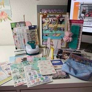 Planner Supplies Lot HUGE Stickers Stamps Clips